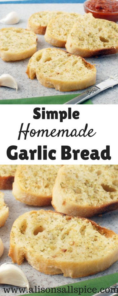 Simple homemade garlic bread is a recipe that everyone should have in their back pocket for a quick and delicious side! Simply mix together the garlic butter, smear on your bread and bake! Make it soft and chewy, or super crispy!