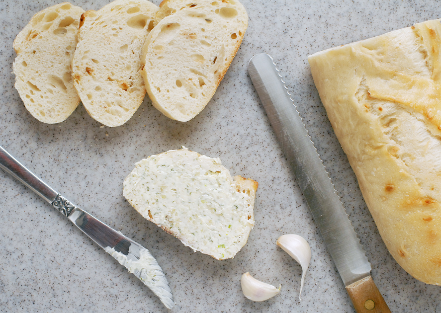 how to make simple garlic bread at home