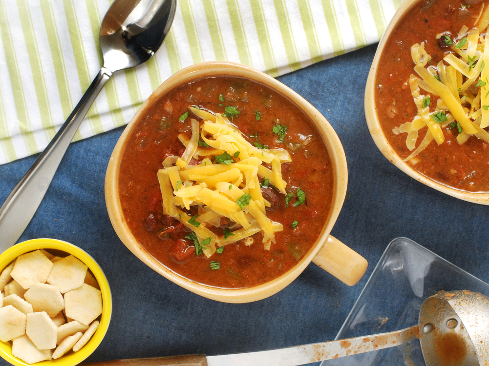 Vegetarian Slow Cooker Three Bean Chili by Alison's Allspice