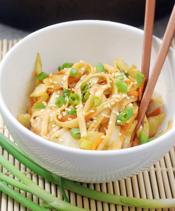 Chinese Green Cabbage Noodle Stir Fry by Alison's Allspice