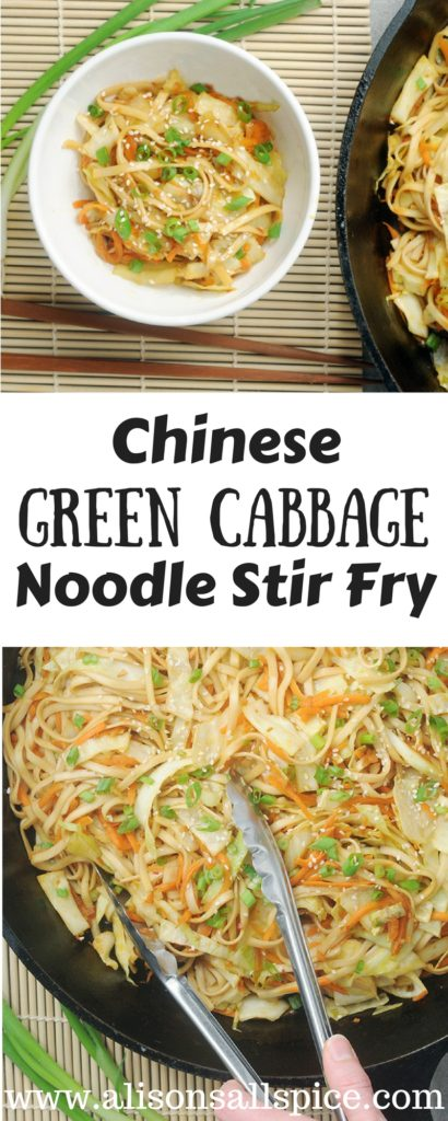 Cabbage is one of my favorite veggies to keep in the fridge for quick, easy meals. This Chinese green cabbage noodle stir fry is loaded with bold flavors like garlic, ginger, and chili paste, and takes only 30 minutes to make!