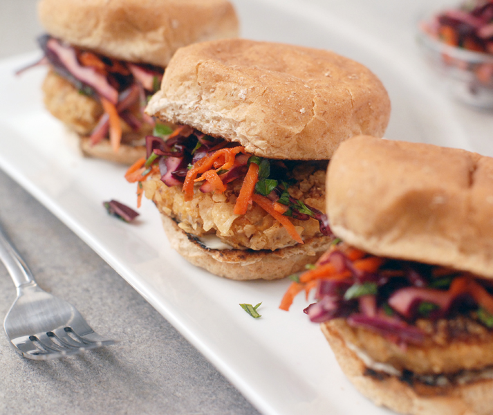 Chipotle Fish Sliders with Sriracha Lime Slaw by Alison's Allspice