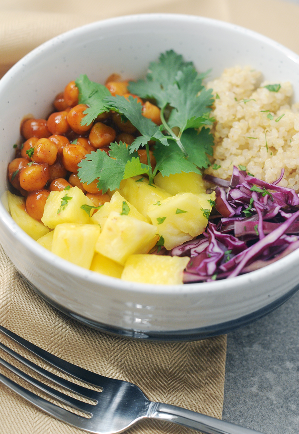 Barbecue Chickpea Hawaiian Bowls by Alison's Allspice