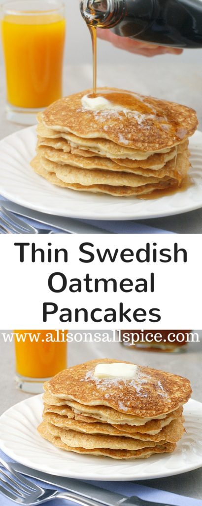 Thin swedish oatmeal pancakes alisons allspice looking for a hearty breakfast the whole family will love try these thin swedish oatmeal ccuart Choice Image
